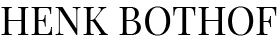 Logo Henk Bothof Black
